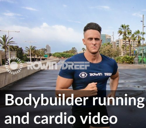 Bodybuilder running and cardio video