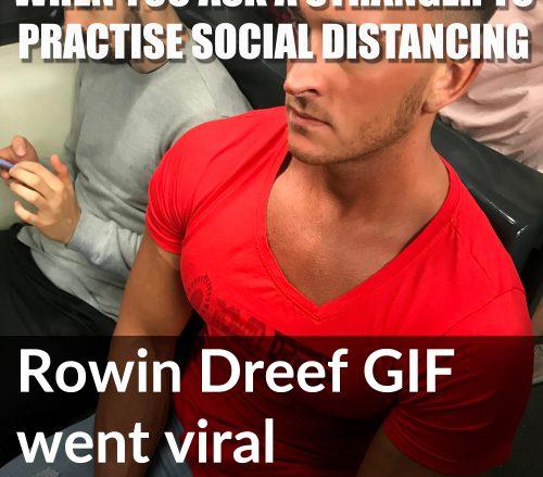 Rowin Dreef bodybuilder social distancing viral